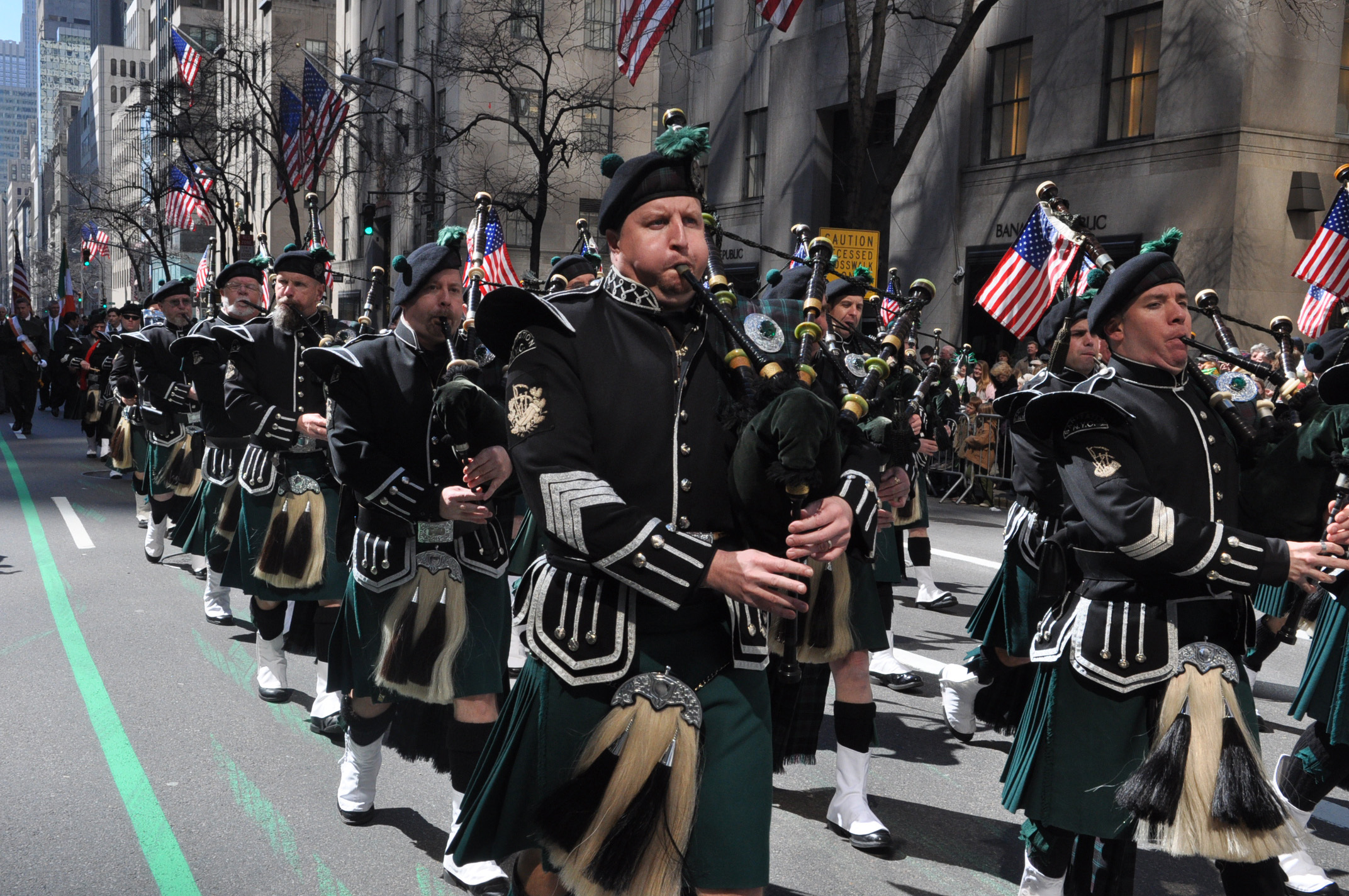 NYC St. Patrick's Day Parade. 2011 5th Ave.Photo: James Higgins